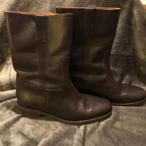 J Crew Mid Calf Pull On Brewster Boot Sz 8  Brown